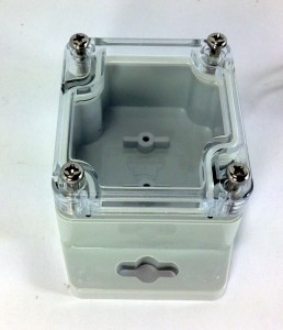 Polycase WC-20F IP65 rated enclosure.