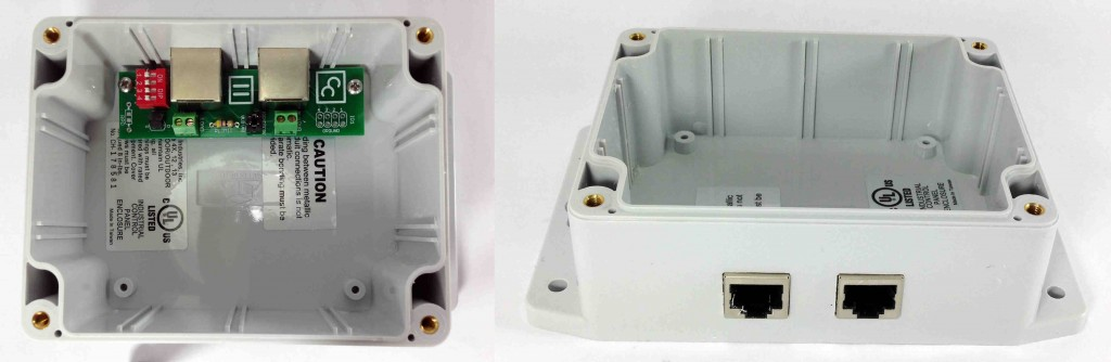 Even before filing out our ethernet cutouts, the fit is pretty good. The holes in our board allow mounting to the existing panel mounts.