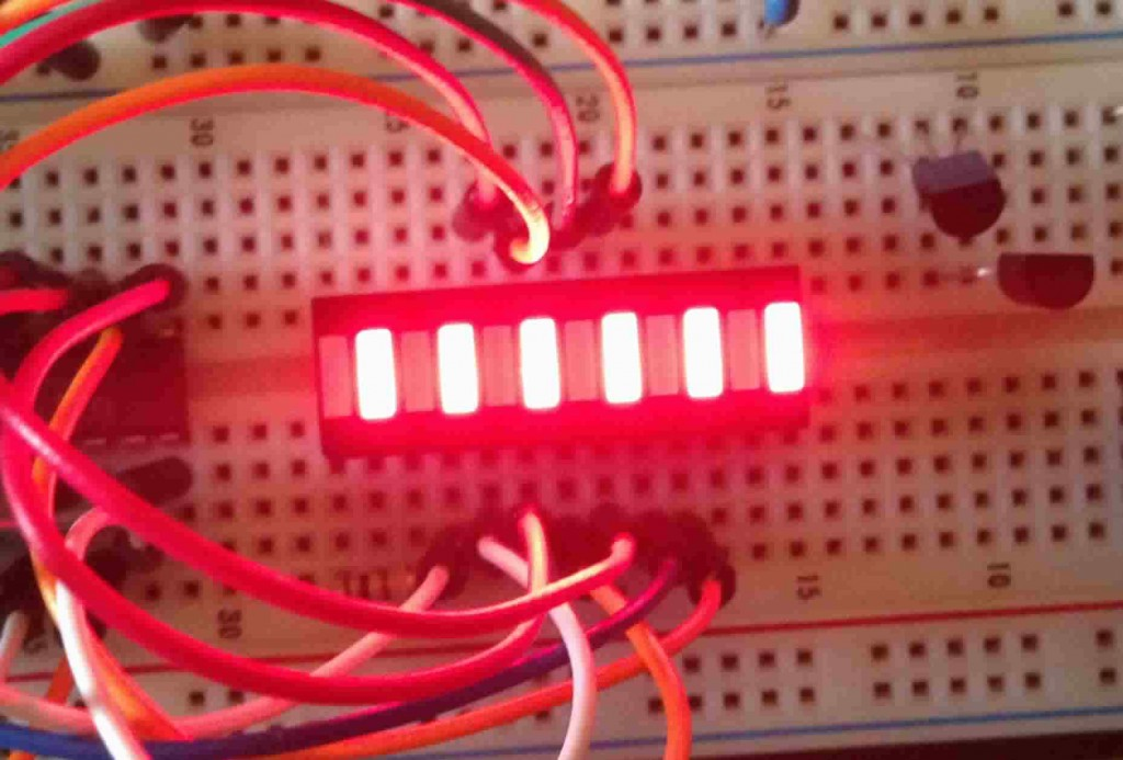Alternating LEDs show that our segment control of multiple anodes is workign as advertised.