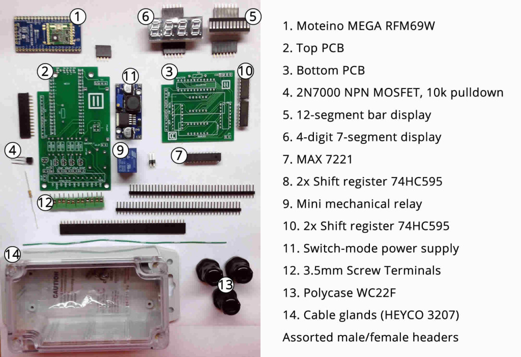 Components for our MEGA controller